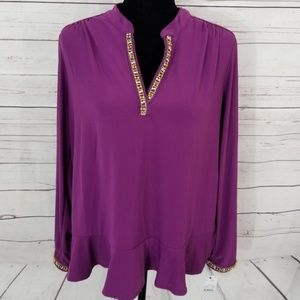 NY Collection Long Sleeve Blouse XL Petite